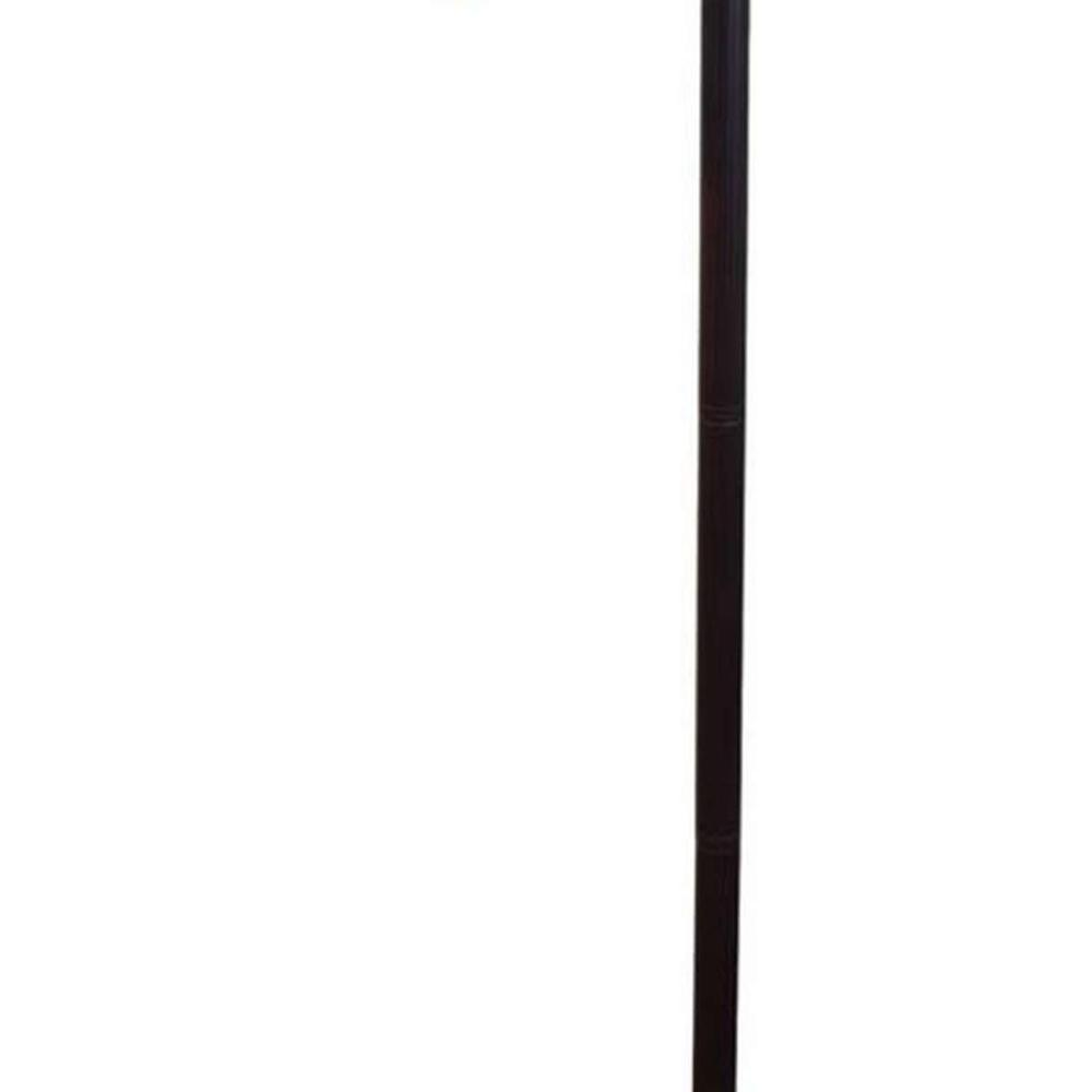 LIGHTING TIFFANY STYLE FLORAL DESIGN FLOOR READING LAMP