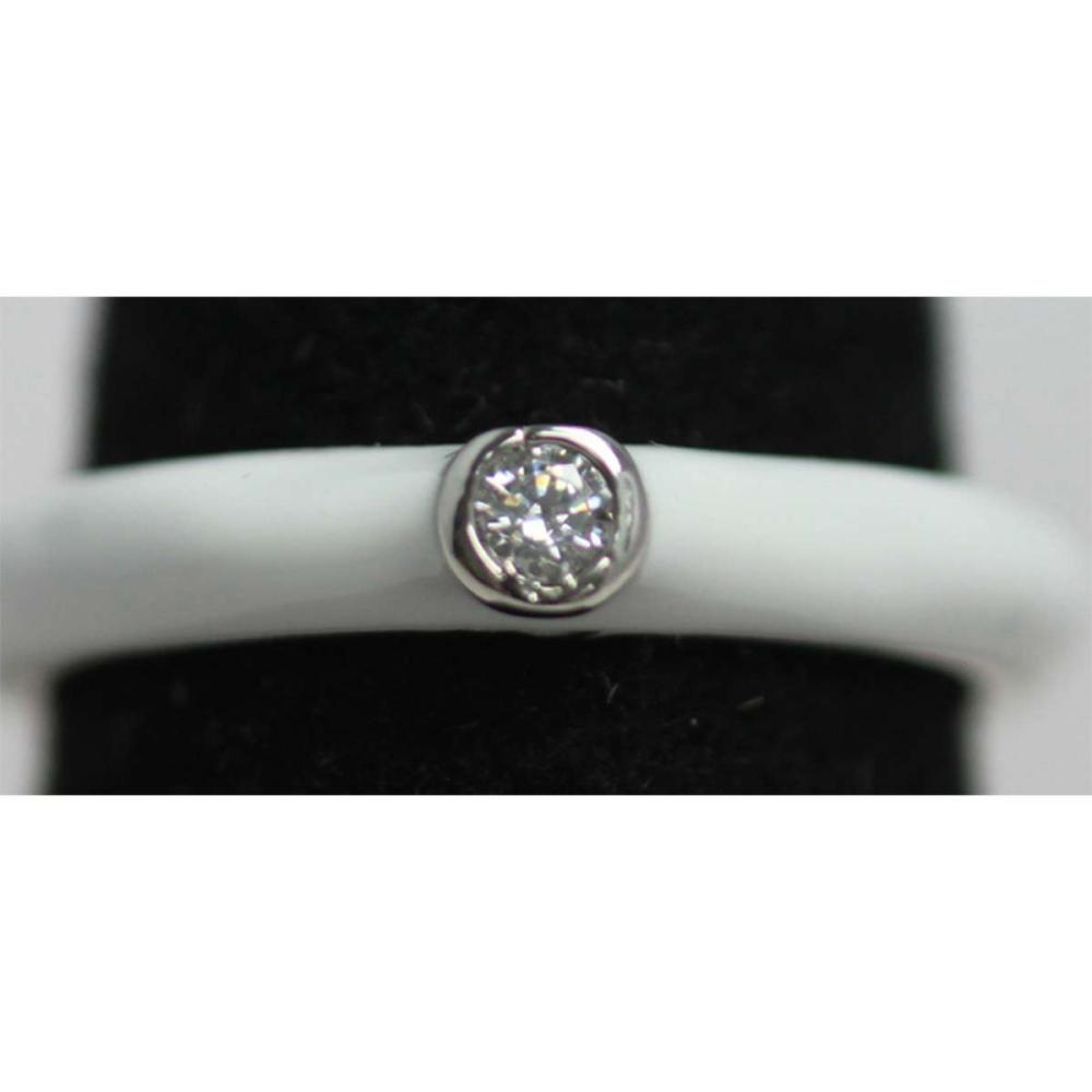 Lot 1150: WHITE RING WITH CZ