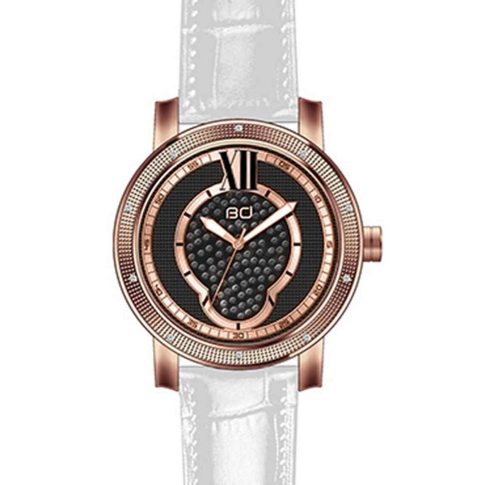 Lot 1163: Diamond Watch Plated Rose Gold