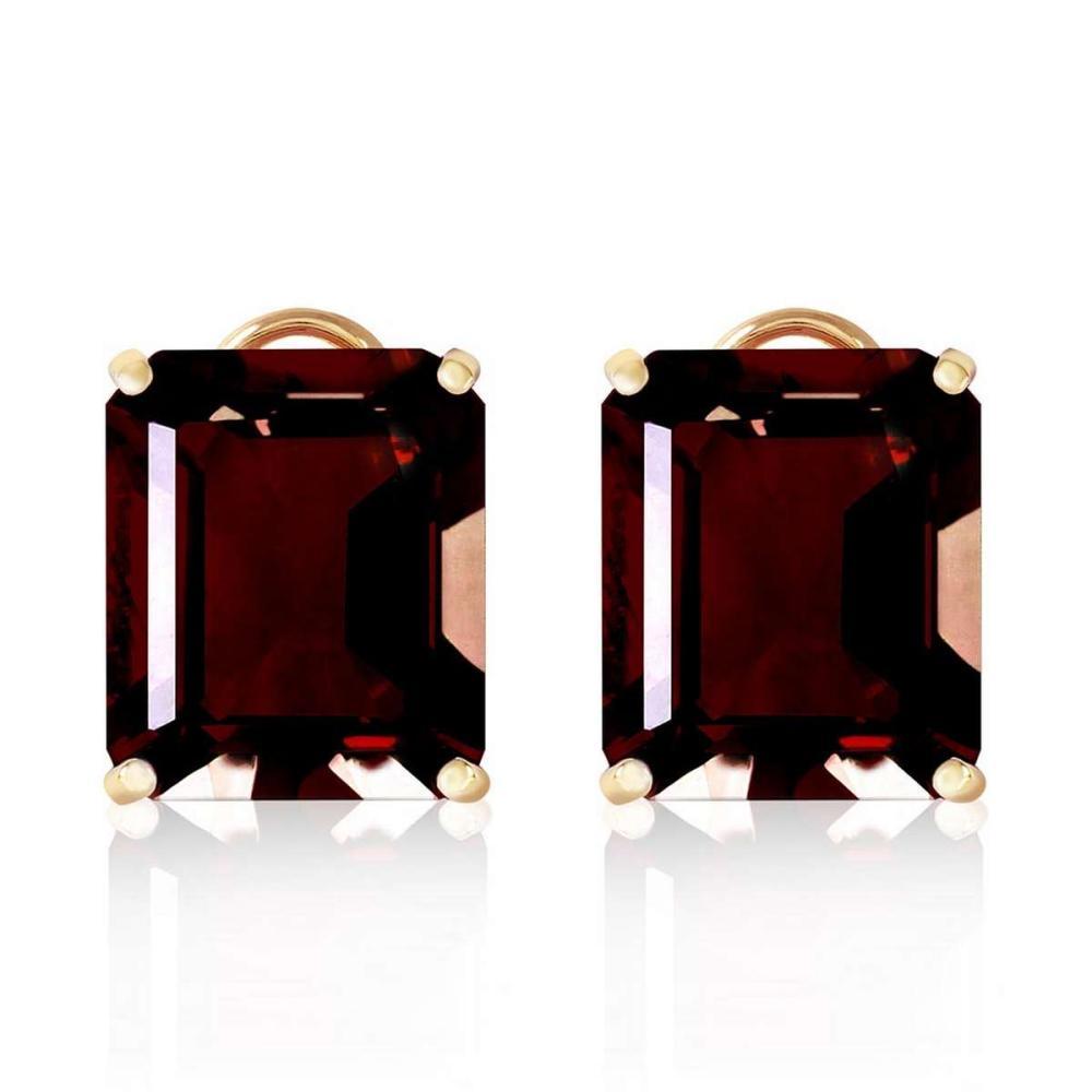 Lot 1171: 14 Carat 14K Solid Gold Distinction Garnet Earrings