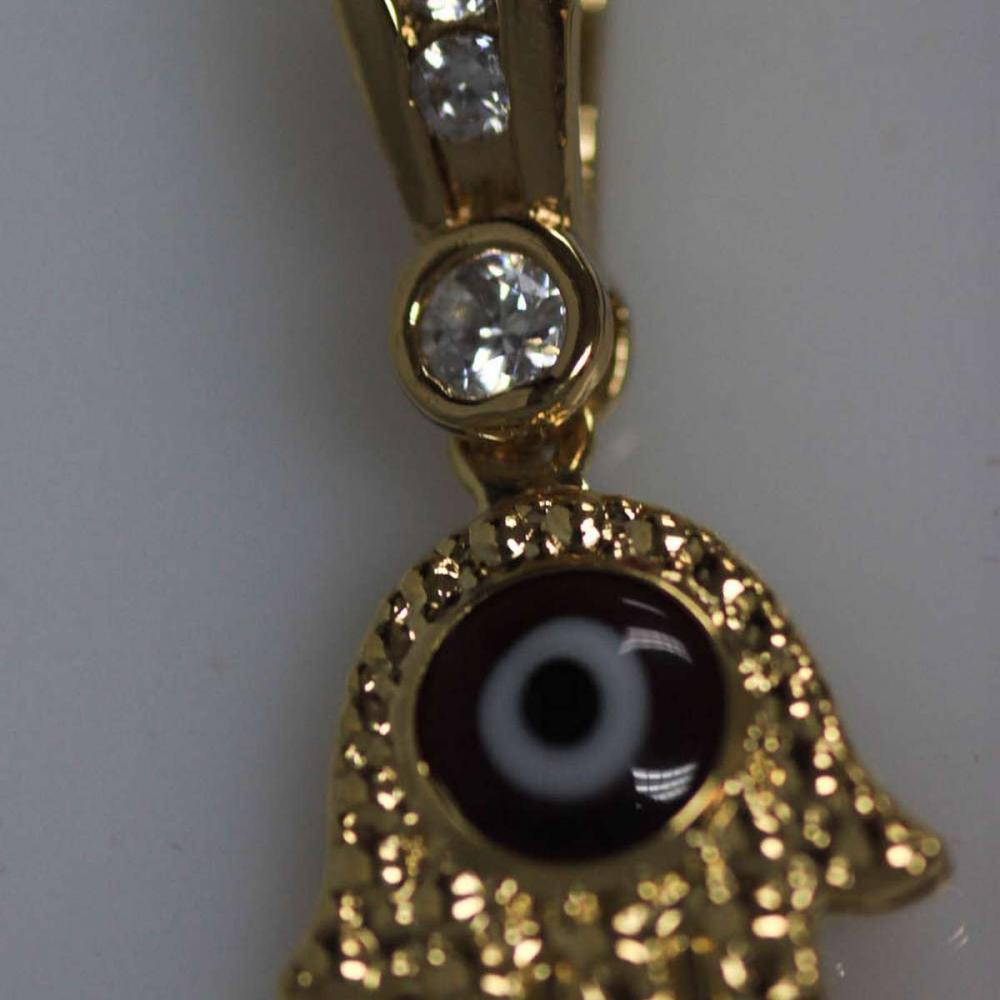 14K GOLD PLATED CZ ALL SEEING EYE  PENDANT