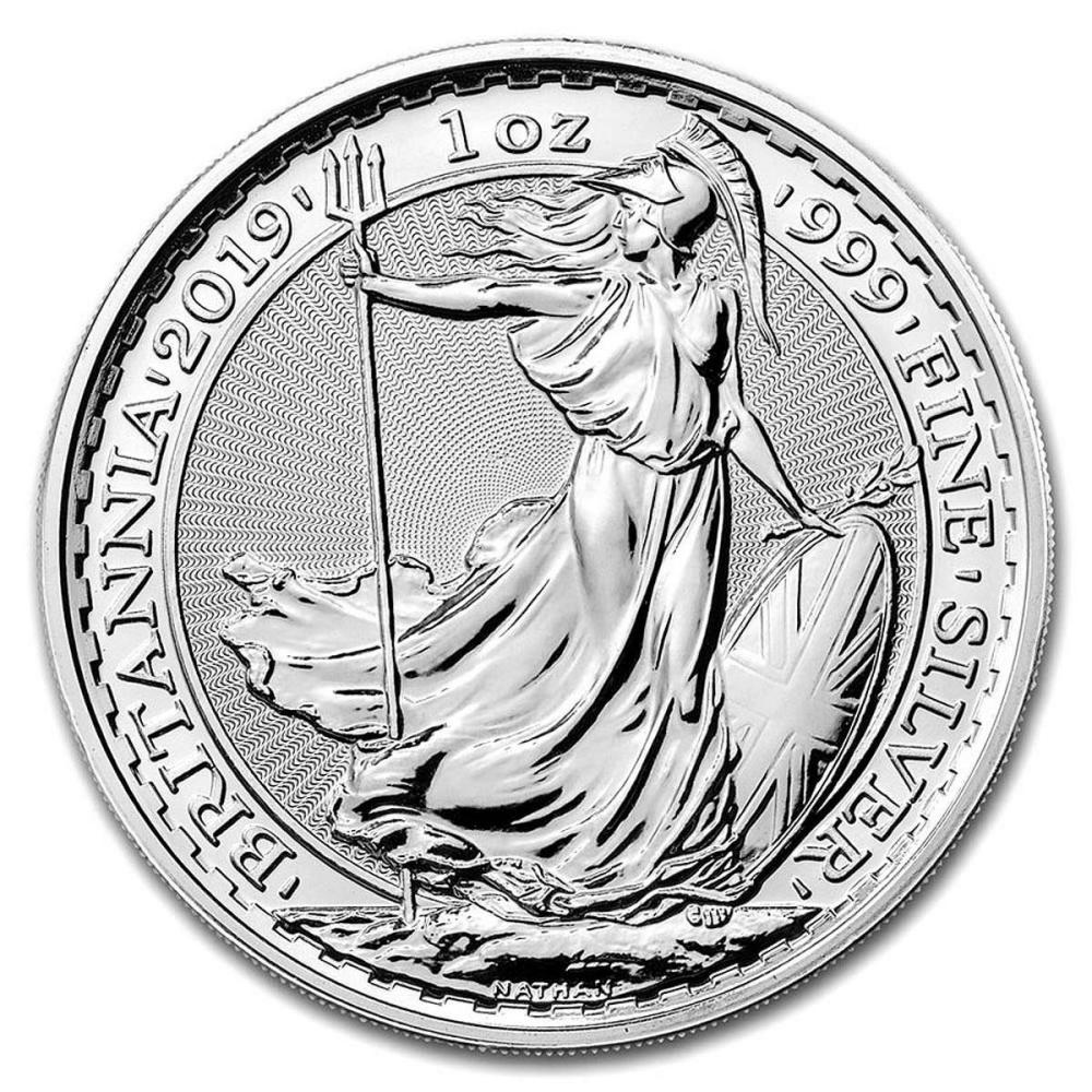 Lot 1177: Uncirculated Silver Britannia 1 oz 2019