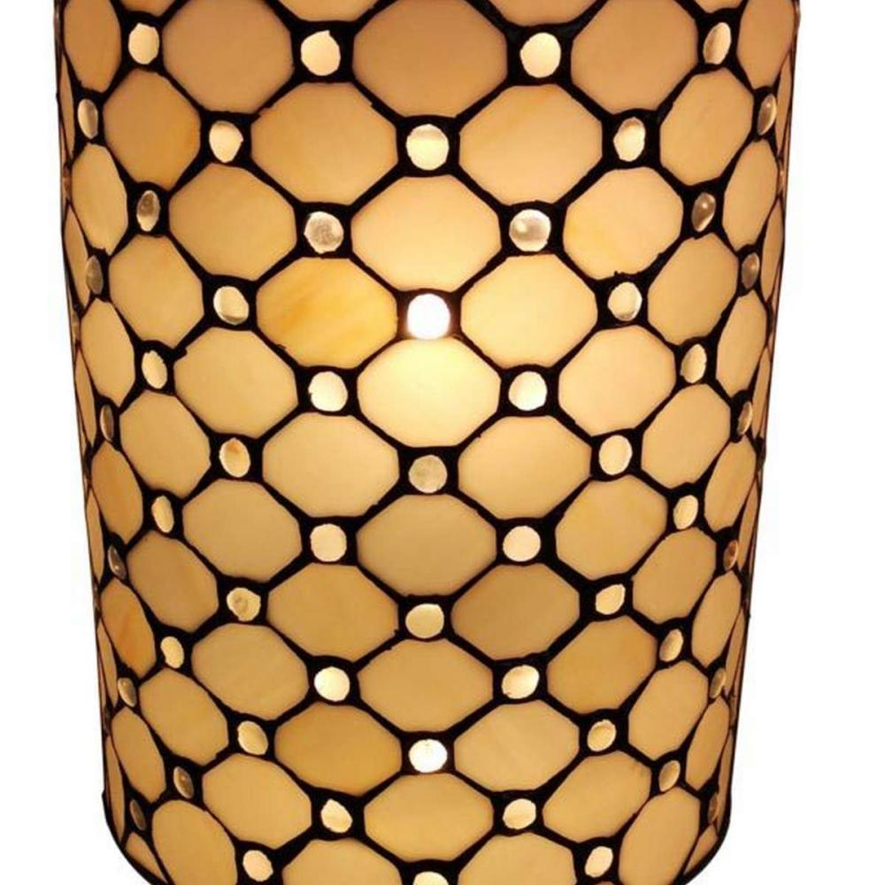 TIFFANY STYLE DOUBLE-LIGHT JEWELED WALL SCONCE LAMP