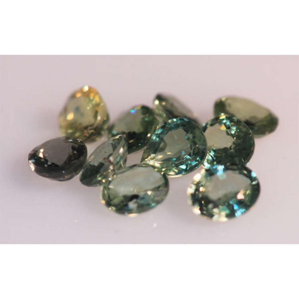 Lot 1195: 4.46 CTW MULTISAPPHIRE OVAL 5X4 mm