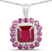 2.74 Carat Genuine Ruby and White Topaz Brass Ring