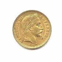 French 20 franc Napoleon III Gold Coin 1853-1870