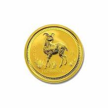2003 Australia 1/4 oz Gold Lunar Goat
