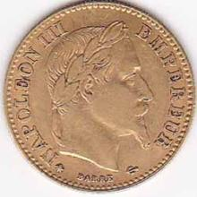 France 10 francs Napoleon III gold 1854-1869