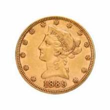 Early Gold Bullion $10 Liberty Extra Fine
