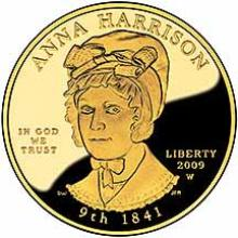 First Spouse 2009 Anna Harrison Proof