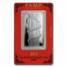 PAMP Suisse Silver Bar 1 oz - 2013 Snake Design