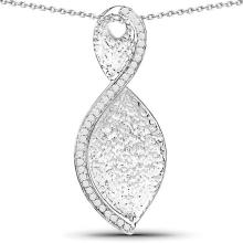 0.32 Carat Genuine White Diamond .925 Sterling Silver Pendant