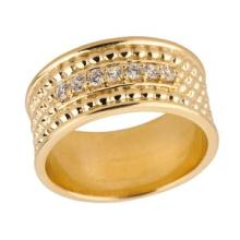 14k Tri Color Gold Diamond Stackable 3-Piece Wedding Set APPROX .45 CTW (I1)