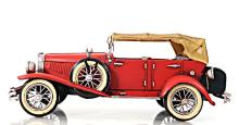 HAND MADE 1933 RED DUESENBERG 1:12TH SCALE MODEL REPLIC