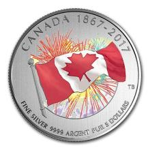 2017 Canada 1/4 oz Silver $5 Proudly Canadian