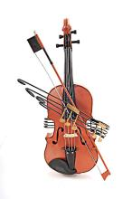 HAND MADE ORANGE VINTAGE VIOLIN MODEL