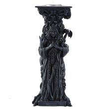 COLD CAST RESIN MOTHER MAIDEN CRONE CANDLEHOLDER 4 1/4