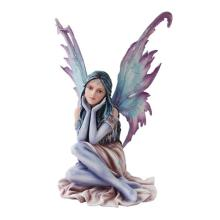 HAND PAINTED RESIN WINTER FAIRY 10 1/2