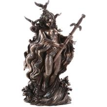 COLD CAST BRONZE LADY OF LAKE 5 1/4