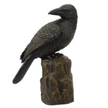 HAND PAINTED RESIN RAVEN H: 8