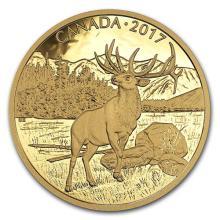 2017 Canada 1 oz Proof Gold $350 Majestic Elk