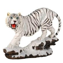 HAND PAINTED COLD CAST RESIN WHITE TIGER 10