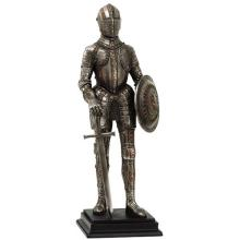 HAND PAINTED COLD CAST RESIN MEDIEVAL KNIGHT H: 12 3/4