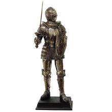 HAND PAINTED COLD CAST RESIN MEDIEVAL KNIGHT H: 16