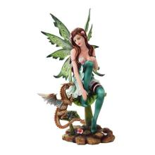 HAND PAINTED RESIN DRAGON FAIRY 6