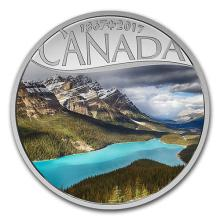 2017 Canada 1/2 oz Silver $10 Canada's 150th: Peyto Lake
