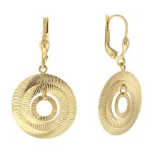 14KT Round Disc type Earrings