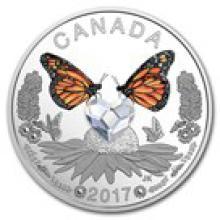 2017 Canada 1/4 oz Silver $3 Celebration of Love (Butterflies)