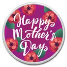 1 oz Silver Colorized Round - (Mother's Day - Floral)