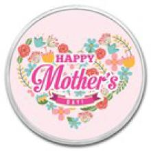 1 oz Silver Colorized Round - (Mother's Day - Love)