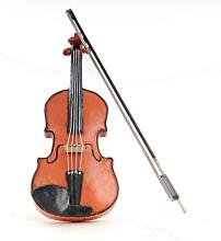 HAND MADE ORANGE VINTAGE VIOLIN MODEL 1:2 SCALE