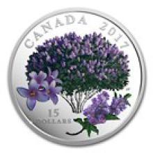 2017 Canada 3/4 oz Ag $15 Celebration of Spring: Lilac Blossoms