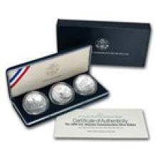 1994 3-Coin U.S. Veterans Set BU (w/Box & COA)
