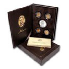 2009-P 5-Pc Lincoln Chronicles $1 Silver Commem Pf Set (Box/COA)