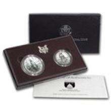 1989 2-Coin Congressional Set BU (w/Box & COA)