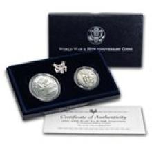1991 - 1995 2-Coin World War II Set BU (w/Box & COA)