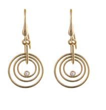 14KT Yellow Earrings 3 Circles