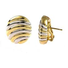 14KT White And Yellow Earring