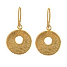 14KT Yellow Coin Earrings