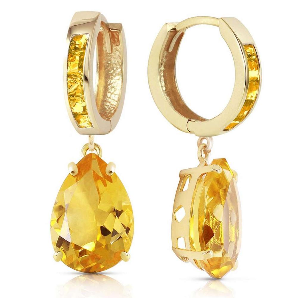 13.2 Carat 14K Solid Gold Dramatique Citrine Earrings
