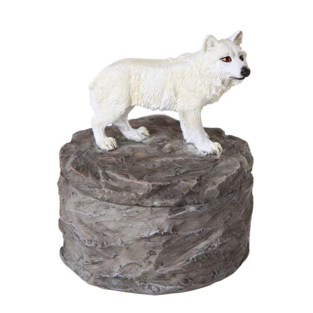 WHITE WOLF TRINKET BOX