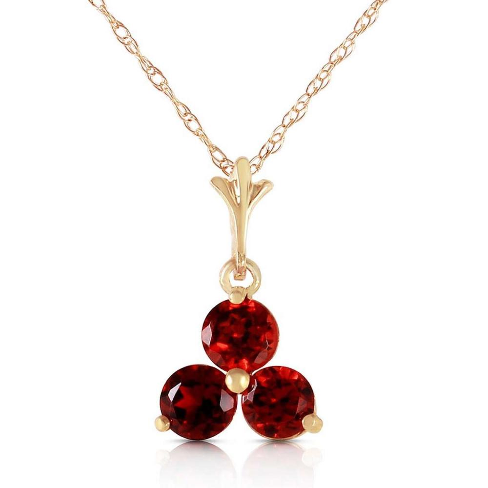 0.75 Carat 14K Solid Gold Have Your Cake Garnet Necklace