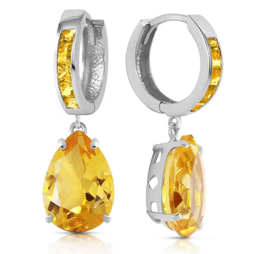13.2 Carat 14K Solid White Gold Loving Touch Citrine Earrings