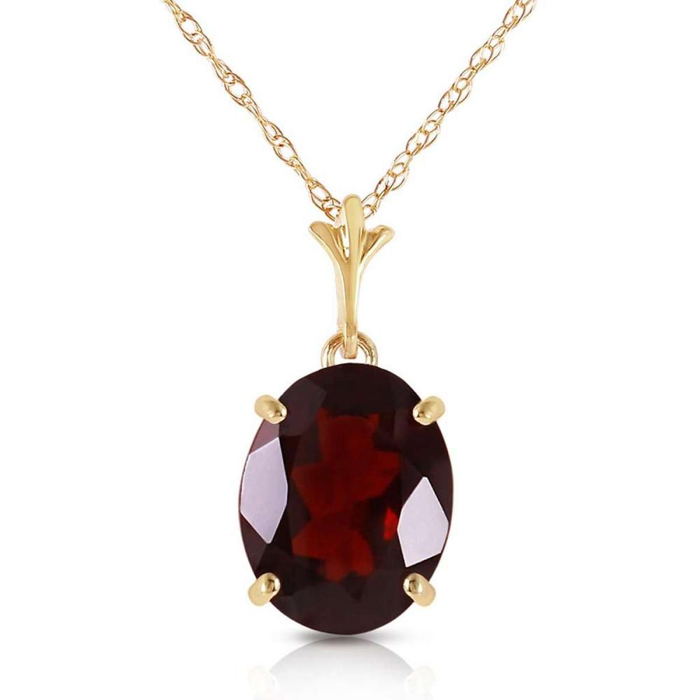 3.12 CTW 14K Solid Gold Made Of Dawn Garnet Necklace