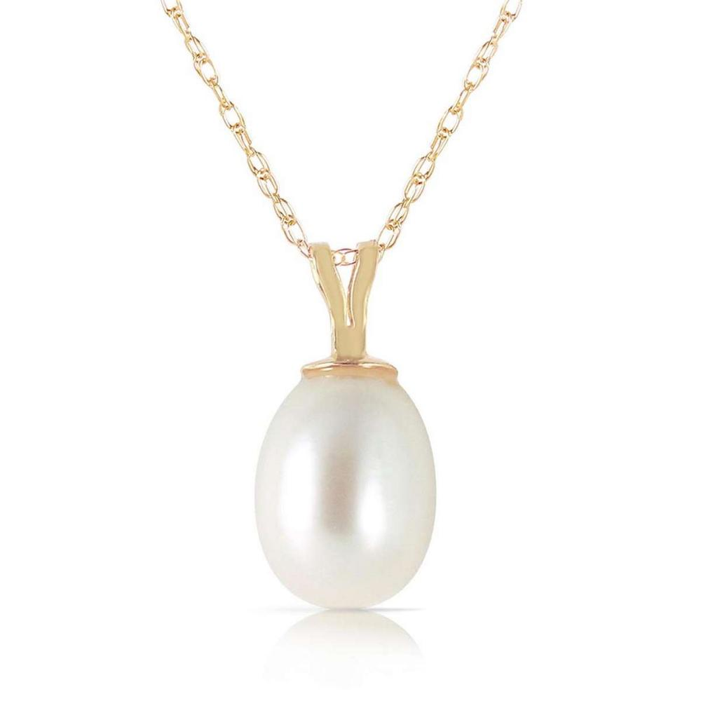 4 Carat 14K Solid Gold Hope On A Chain pearl Necklace