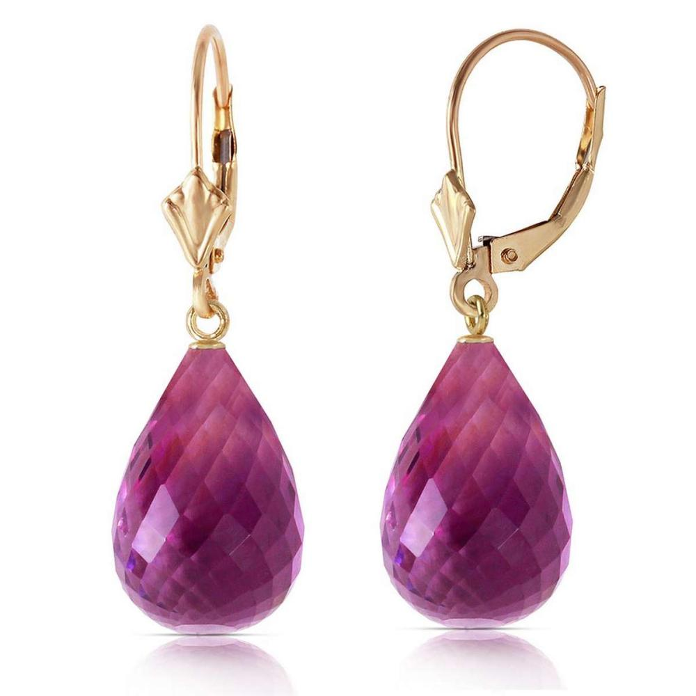 14 Carat 14K Solid Gold Loveliness Amethyst Earrings